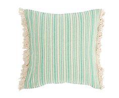 Cojín de algodón Cuper, verde - 80x80 cm
