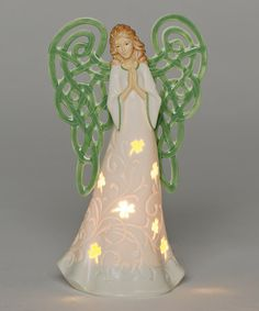 CHRISTMAS 5/'/'INCH IRISH ANGEL/'/'MAY GOD FILL YOUR HEART WITH GLADNESS 3-D ORN-NEW