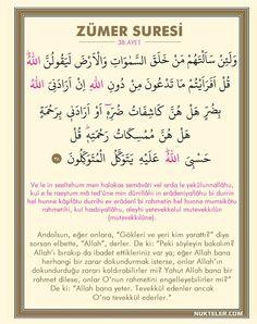 7 Ayet Vardır ki Gök Yere İnse Bunu Okuyan Kurtulur Zümer Suresi 38. Ayet