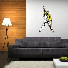 """Freddie Mercury Queen Wall Graphic Decal Sticker 25"""" x 15"""" Hmmm. I may need this."""