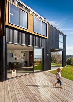 Wood Modern Deck Design in Beach House