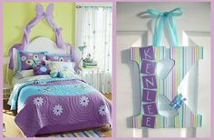 Teen Girl Bedrooms - Super ingenious and wicked teen room decor inspirations and examples. Must view extraordinary step reference 5528901556 Purple Green Bedrooms, Purple Kids Rooms, Bedroom Green, Little Girl Rooms, Purple Teal, Girls Bedroom, Trendy Bedroom, Teen Room Decor, Home Decor Bedroom