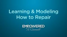 Learning & Modeling How to Repair by Tapestry. Watch as Amy Monroe explains the importance of parents learning and modeling how to repair their mistakes with their children.