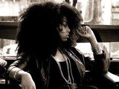 Big hair. Natural hair.