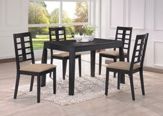 Casual Acme Dining Room Table 60215 in Black Finish