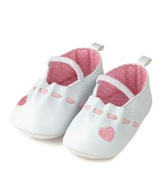 White & Pink Heart Booties