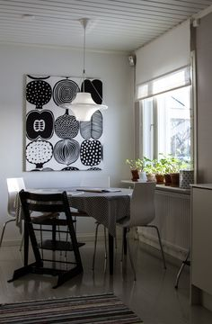 Marimekko, Minimalist Interior, Minimalist Home, Hanging Curtains, Curtain Fabric, Cottage Homes, Cozy House, Sweet Home, New Homes