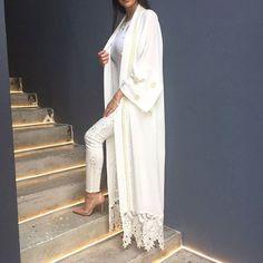 White on white.  Available online www.qabeela.biz  #qabeela #qabeelagirls #hijabinspiration #styleofarabia #styleinspiration #abaya #kimonocardigan #hijabfashion #modestfashion #hijabstyle #hijabblogger #hijabinspiration #styleofarabia #pakistanstreetstyle #qabeelagirls #BeautyBloggers