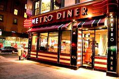 De Metro Diner in New York, waar ik samen met Helena elke dag ontbeet met heerlijke pannekoeken met stroop en aardbeien!