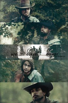 """The Musketeers - 1x10 - Musketeers Don't Die Easily, Athos: """"We have honour"""" Porthos: """"Still a little money would be nice"""""""