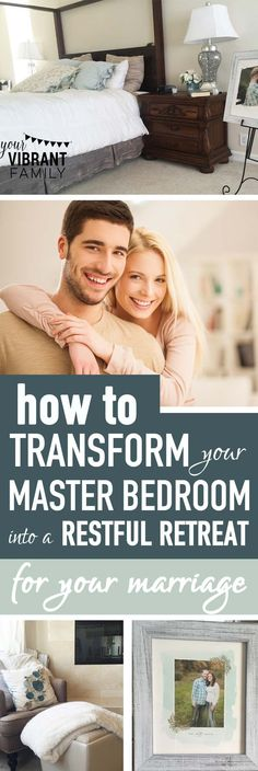 Do you have a sanctuary in your home for you and your husband? A place to talk about the tough issues? Somewhere where you can close the door and be real with each other? Creating a restful master bedroom retreat isn't about spending thousands of dollars