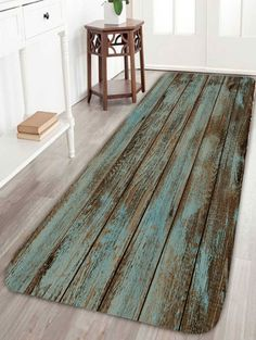 Wood Grain Print Bathroom Rug -