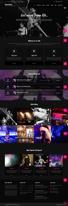 Nightspot WordPress Theme for Nightclubs and Bars