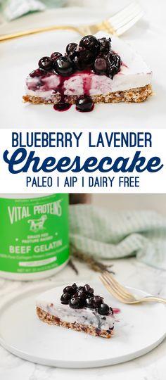 Blueberry Lavender Cheesecake (Paleo, AIP, Dairy Free) - Unbound Wellness