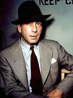 Humphrey Bogart Circa 1945.Great color photo of him!
