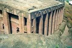 lalibela, Ethiopia---carved out of solid stone as a re-building of Jerusalem  Bete Medhane Alem Bedrock Church, Lalibela, Ethiopia, Africa by Boonlong1, via Flickr