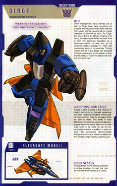 Transformer of the Day: Dirge