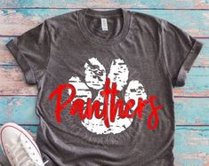 Panthers Football, Football Fans, School Spirit Shirts, Team Shirts, Cute Designs, Cheer, Super Cute, Cricut, Silhouette