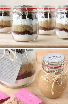 Brownies in a Jar | 40 DIY Gift Basket Ideas for Christmas | Handmade Gift Ideas for Christmas