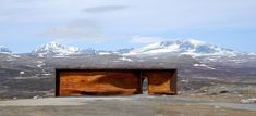 snøhetta: 90 square meter observation pavilion located within dovrefjell-sunndalsfjella national park, dorve, norway