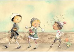 Back to School by Aileen Leijten from Brooklyn ($20 print on etsy in her shop PolkadotStripes)