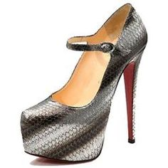 All You Need is Love And Christian Louboutin Lady Daf 160mm Mary Jane Pumps Grey CIX!