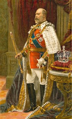 The birth of Edward VII on this day 9th November, 1841. The eldest son of Queen Victoria and Prince Albert, he married Princess Alexandra of Denmark in 1863 and they had three sons and three daughters. Queen Victoria would not involve Edward, Prince of Wales in official government matters and Edward chose to indulge in a wild social life becoming implicated more than once in divorce cases