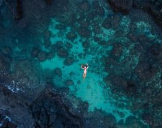 @ashbax808 floating in a pool of blue. by karimiliya