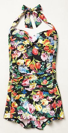 Love this floral maillot