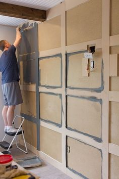 17 Alluring Accent Wall Ideas for Any Room in Your House Master Makeover: DIY Paneled Wall Wall Molding, Moulding, Diy Home Improvement, New Wall, Bedroom Wall, Diy Bedroom, Master Bedrooms, Bedroom Ideas, Master Bedroom Design