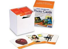 Write & wipe cards feature a photograph with words on one side. While the reverse side features an image and space for writing. The Learning Resources Basic Vocabulary Photo Cards Set Features: 156 double-sided photo cards. Picture Cards, Photo Cards, School Places, Montessori Materials, Montessori Playroom, Montessori Education, Preschool Literacy, Phonics Activities, Montessori Toddler