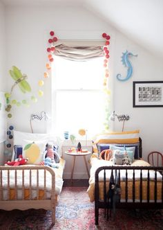 Twin Beds For Kids   House & Home   Photo via A Cup of Jo blog by Heather Zweig