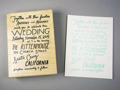 Image of Custom Hand lettered Wedding Invitation
