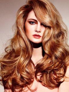 Açık Bakır Rengi Dalgalı Saç
