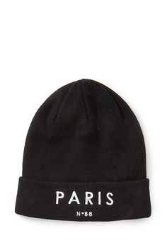 Paris Graphic Beanie #Accessories