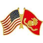 U.S. Marines Flag w/ U.S. Flag Pin - Meach's Military Memorabilia & More