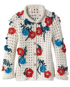 Chanel '10 #Crochet Floral Sweater