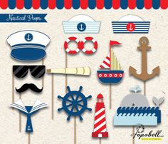 Baby Shower Ides For Boys Marinero Sailor Party Trendy Ideas Sailor Party, Sailor Theme, Sailor Birthday, Pop Up Invitation, Cruise Party, Nautical Party, Nautical Photo Booth, Party Decoration, Photo Booth Props