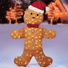 Outdoor Christmas Decorations Gingerbread Garden Led Lights Xmas Indoor Ornament Ebay S Outdoor Christmas Decorations Outdoor Christmas Christmas Decorations