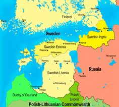 Swedish and Polish lands in the Baltics, 17th century. - Maps on the Web