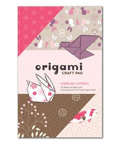 Another great find on #zulily! Origami Craft Pad: Creatures and Critters Activity Book #zulilyfinds