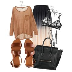 """Ombre skirt"" by nhabyg on Polyvore"