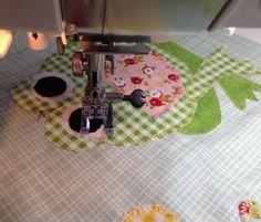 In Our Garden Blog Hop: Block #1 featuring Riley Blake fabrics. FREE downloadable block pattern