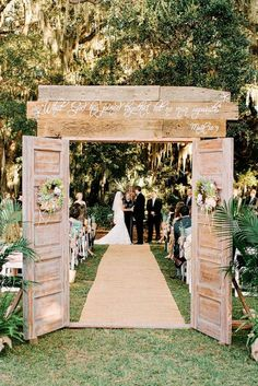 Rustic Wedding Doors rent @ Rusted Root Rentals. Amazing entrance setup of wedding doors beautiful entryway for a rustic outdoor wedding vintage \u2026 & Rustic Wedding Doors rent @ Rusted Root Rentals. Amazing entrance ...