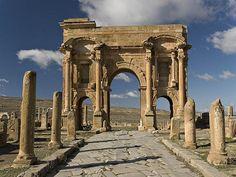 Algeria. Timgad, Roman colonial town