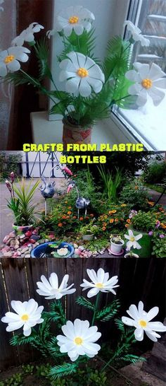 Creative Ways To Recycle Old Plastic Bottles Into DIY Crafts - Usefull Information Plastic Bottle Planter, Reuse Plastic Bottles, Plastic Bottle Crafts, Recycled Bottles, Water Bottle Flowers, Water Bottle Crafts, Plastic Flowers, Diy Flowers, Diy Home Crafts
