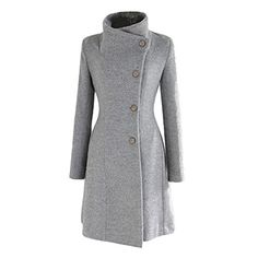 Version Women's Cashmere Woolen Coat Jacket Warm Winter Long Trench Slim at… Look Fashion, Hijab Fashion, Fashion Dresses, Fashion Coat, Belted Coat, Couture, Coat Dress, Mode Inspiration, Coats For Women