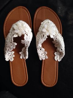 Beach Wedding Sandals by BlisterlessEverAfter on Etsy, $30.00