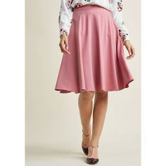 Just This Sway Midi Skirt (3.330 RUB) ❤ liked on Polyvore featuring skirts, red high waisted skirt, high-waisted flared skirts, red skirt, midi skirt and high waisted skirts