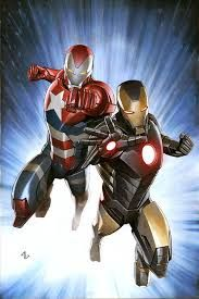Avengers US Military Exclusive A special commissioned cover for Avengers Over 1 million copies were distributed. This piece features Iron Man & Iron Patriot. Pencil, ink & acrylic on watercolour paper. Comic Book Characters, Comic Book Heroes, Marvel Characters, Comic Character, Comic Books Art, Comic Art, Marvel Comics Art, Marvel Heroes, Marvel Avengers